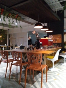 Máquina en Kawah Café
